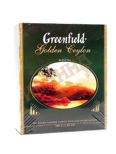 Голден Цейлон (2г*100п/9) чай пак.черн. ГРИНФИЛД